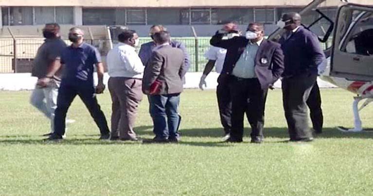 চট্টগ্রাম স্টেডিয়াম পরিদর্শনে উইন্ডিজ প্রতিনিধি দল