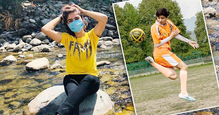 যুদ্ধবিধ্বস্ত কাশ্মীরে নারী ফুটবল যোদ্ধার লড়াই